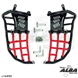 Suzuki LTR 450 QUADRACER (2006-2009) Propeg Nerf Bars Black Bars w/ Red Net