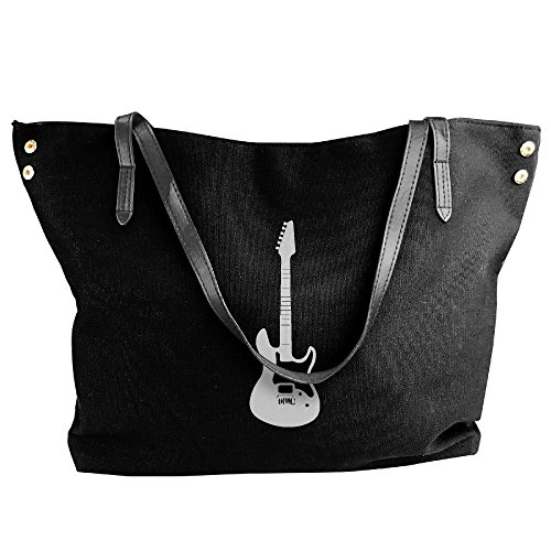 Messenger Black Tote Handbag Shoulder Women's Large Bags Guitar Electric Canvas Pg0q6znv