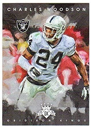 86264c2f4 Amazon.com: 2015 Gridiron Kings #99 Charles Woodson Raiders Football ...