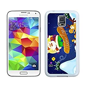 S5 Case,Sliding Plate Christmas Santa Claus Samsung Galaxy S5 Phone Case,S5 I9600 TPU Cover Case
