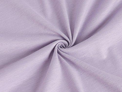 Alto Corte dei O Luce Elastica Maniche Donne Tasche Vestito DSUK Viola Basso Collo gOqnaOT