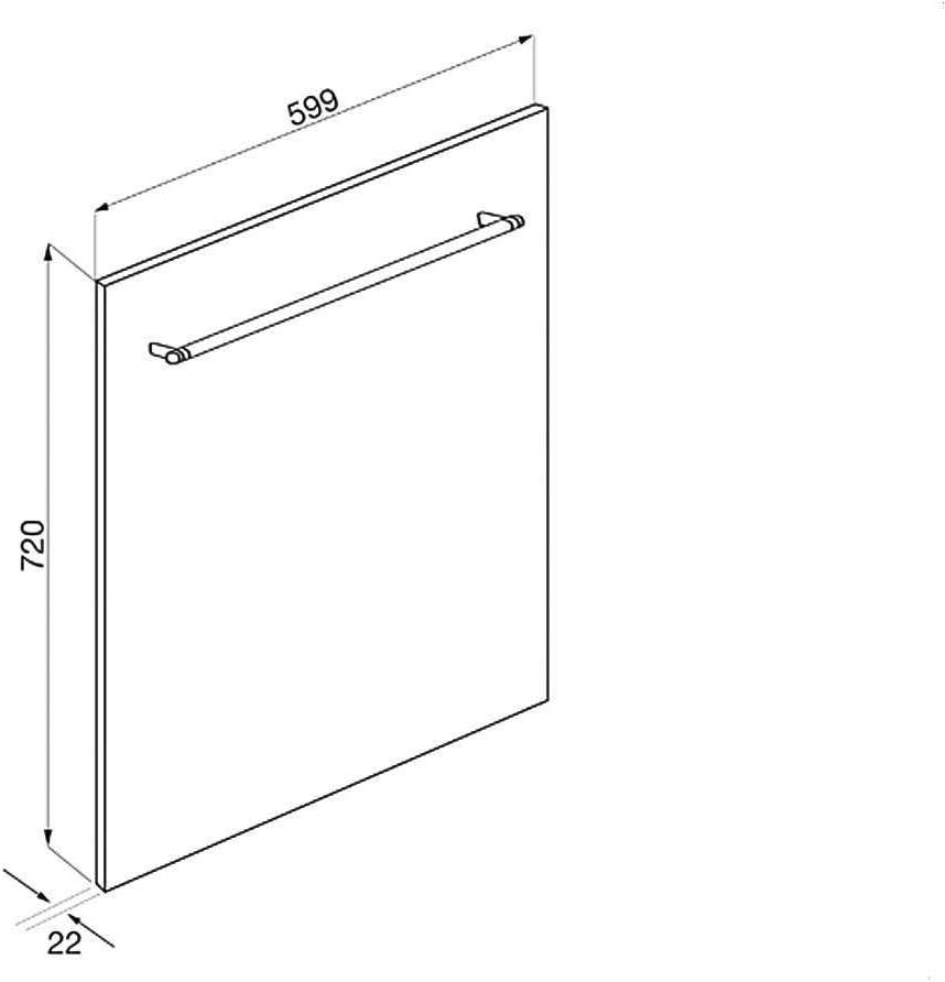 Amazon.com: Smeg KIT6CX - Panel frontal de acero inoxidable ...