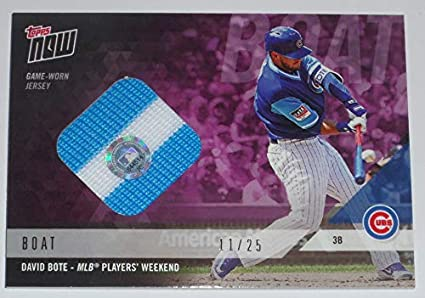 new york 12e46 b3763 Amazon.com: 2018 DAVID BOTE TOPPS NOW GAME USED CUBS MLB ...