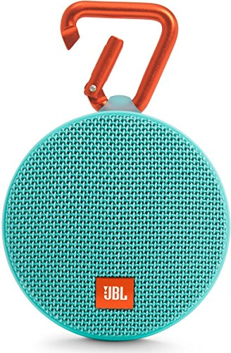 (JBL Clip 2 Waterproof Portable Bluetooth Speaker (Teal))