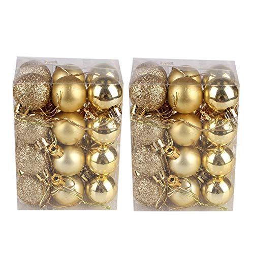 Gotian 8Pcs 30mm Christmas Xmas Tree Hanging Ball Bauble Home Party Ornament Decor (Gold) from Gotian