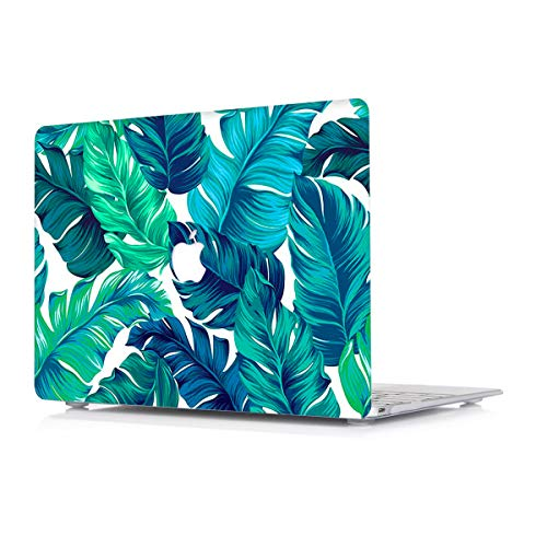 Hard Case for Apple MacBook Air 11 Inch Model A1465/A1370 - L2W Plastic Laptop Computers Accessories Cover Protective Matte Translucent Palm Leaf Design Shell