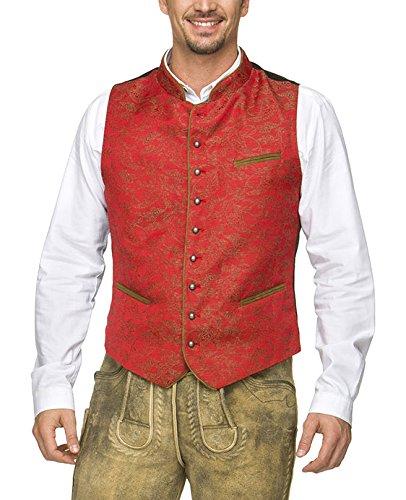 Stockerpoint Herren Trachtenweste Weste Paolo, Rot (Rot), Medium (Herstellergröße: 50)