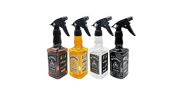 Botella De Spray 4 Paquete de 450 ml Botellas del aerosol vacías de vidrio retornables pulverizador Contenedores for la belleza del agua Cocina baño de limpieza Botellas De Plástico Para Desinfección: Amazon.es: