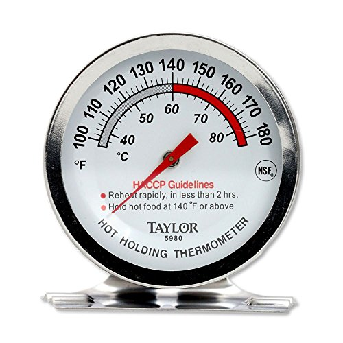 Taylor Precision 5980N Professional Series Hot Holding Thermometer, NSF (100° to 180°F) (Holding Thermometer)