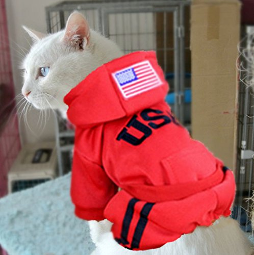 Hot Sale! Pet Cat Costumes Winter Dog Jumpsuit Clothes for Cats Pet Clothing Pajamas Coat Puppy Clothes Ropa para Gatos Moscotas (S, (Spiderman Cosplay For Sale)
