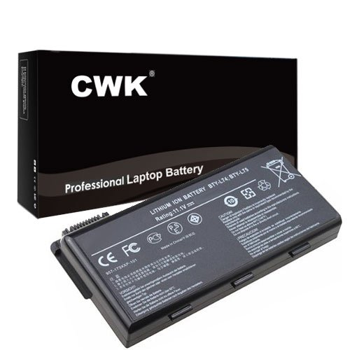 CWK 9 Cell High Capacity Laptop Notebook Battery for MSI A6200 A7000 CR500 CR600 BTY-L74 BTY-L75 A5000 A6000 A6200 A7000 CR500 CR600 CR610 CR630 BTY-L74 BTY-L75 A5000 A6000 A6200 (Large Capacity Battery Notebook)