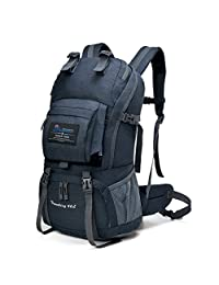 Mountaintop 40 Liter Hiking Backpack with Rain Cover for Outdoor Camping