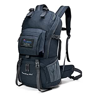Amazon.com   MOUNTAINTOP 40L Hiking Backpack for Outdoor Camping ... a0fc573c6