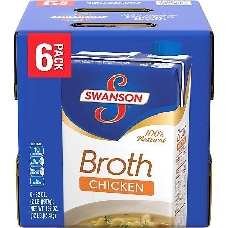 Swanson Chicken Broth, 174 Ounce (Pack of 12)