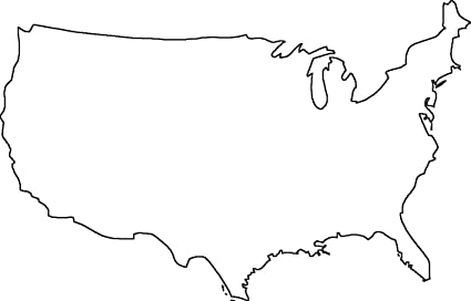 United States Outline Map Amazon.com: Home Comforts Laminated Map   Geography Blog Outline