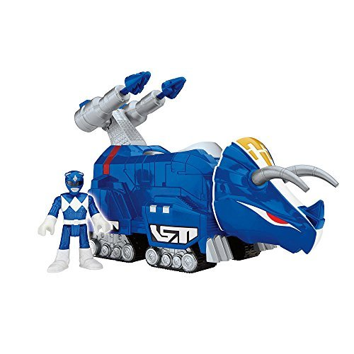 Fisher Price Imaginext Power Rangers Blue Ranger & Triceratops Zord NIP 2015