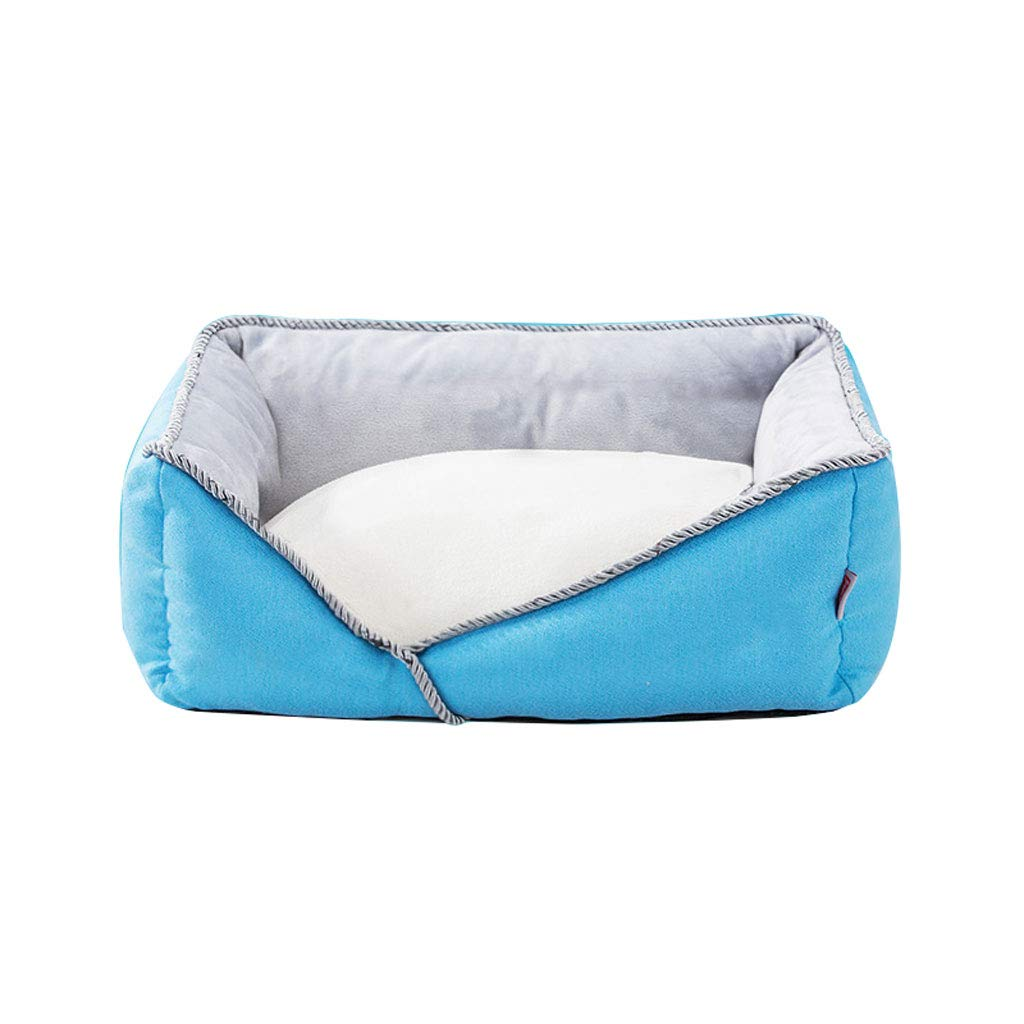 LY-YL006 Luxurious and comfortable pet bed super soft and comfortable cat dog bed, durable removable and washable pet litter (color   Light bluee, Size   Xl 80  60  20cm)