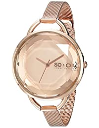 SO & CO New York Women's 5104.4 SoHo Analog Display Japanese Quartz Rose Gold Watch