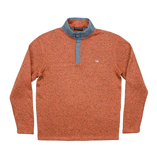 (Woodford Snap Performance Pullover Washed Red Medium)