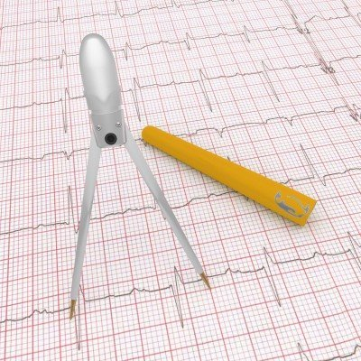 Yellow Penguin Pocket EKG Caliper
