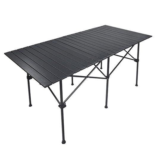 WPCBAA Mesa plegable portátil larga para exteriores, mesa plegable ...