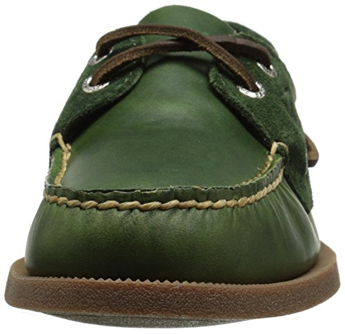 Sperry Top-Sider Authentic Original del Hombre TWO-EYE Cyclone Boat Shoe Verde oliva