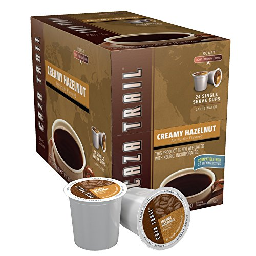 Caza Trail Coffee, Creamy Hazelnut, 24 Single Serve Cups