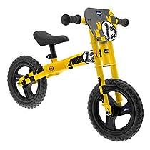 Chicco Yellow Thunder - Bicicleta sin pedales con sillín regulable para edades de 3 a 5 años, max. 25 kg, color amarillo