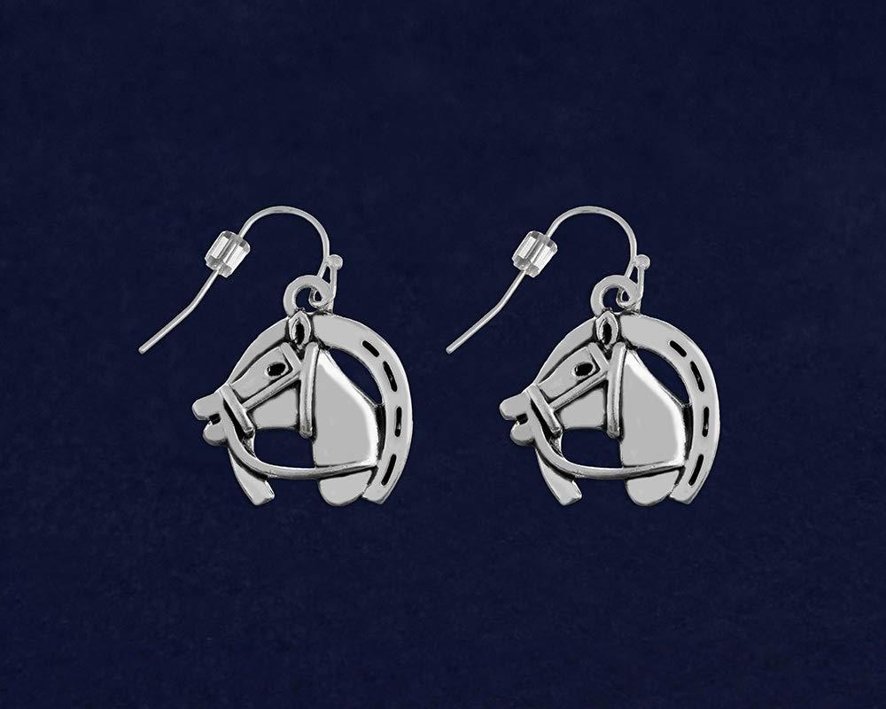 10 Pairs of Earrings Individually Bagged 10 Pack Paw Print Ribbon Earrings