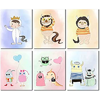 Amazon.com: Where the Wild Things Are Prints - Set of Six Kids Wall ...