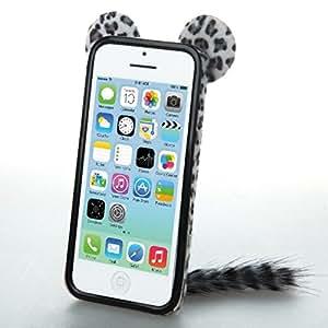 MyBat iPhone 5 Fox Phone Back Protector Cover - Retail Packaging - Black Leopard Skin