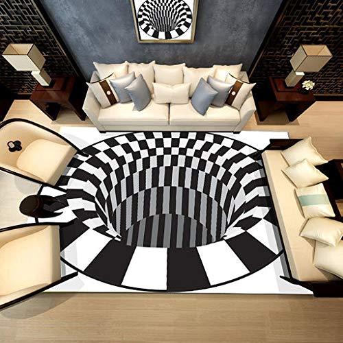 Alfombra Lyperkin Ultra Suave Interior Moderna Zona Alfombra de salón esponjosa Alfombra Shaggy Fluffy Anti-Skid Area 3D...