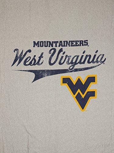 The Northwest Company West Virginia University Mountaineers NCAA Sweatshirt Throw Blanket, Grey