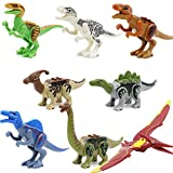 Feleph 8 Styles Jurassic Theme Dinosaur Building Blocks Miniature Toy Plastic Play Toys Small Tyrannosaurus / Pterosaurs Blocks Model Figures Best Gift for Major Bands