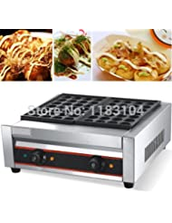 220v Electric Japanese Takoyaki Grilled Octopus Balls Maker Machine Baker Iron Mold