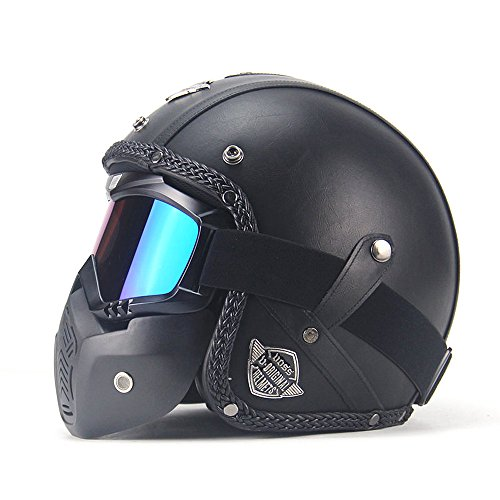 3/4 motorcycle helmet