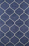 Cheap Momeni Rugs NEWPONP-10BLU90C0 Newport Collection Hand Tufted Loop Cut Contemporary Area Rug, 9′ x 12′, Blue