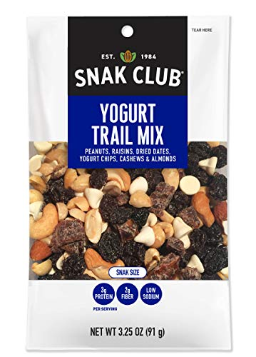 Snak Club All Natural Yogurt Trail Mix, Non-GMO, 3.25-Ounces, 12-Pack