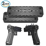 #8: Gun Magnet Mount 2-Pack | 43 Lbs Rated | IronMount Rubber Coated Magnetic Gun Mount & Holster | Concealed Holder for Car, Handgun, Pistol, Shotgun, Rifle