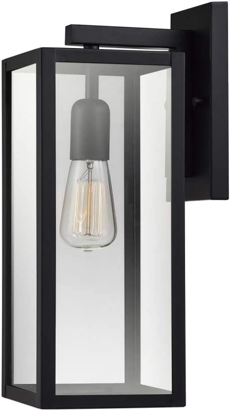 Globe Electric Bowery 1-Light Outdoor Indoor Wall Sconce Matte Black Clear Glass  sc 1 st  Amazon.com & Porch u0026 Patio Lights | Amazon.com | Lighting u0026 Ceiling Fans ...