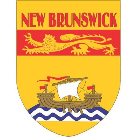 New Brunswick Flag Shield Style Stickers - New Brunswick Stores