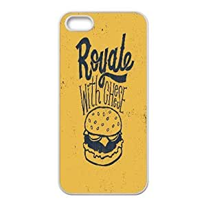 IPhone 5,5S Case Hardshell Typography Royale With Cheese, Pop Art Case For Iphone 5s Cheap [White]