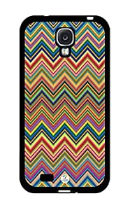Colorful Chevron Pattern RUBBER Samsung Galaxy S4 Case - Fits Samsung Galaxy S4 T-Mobile, AT&T, Sprint, Verizon and International