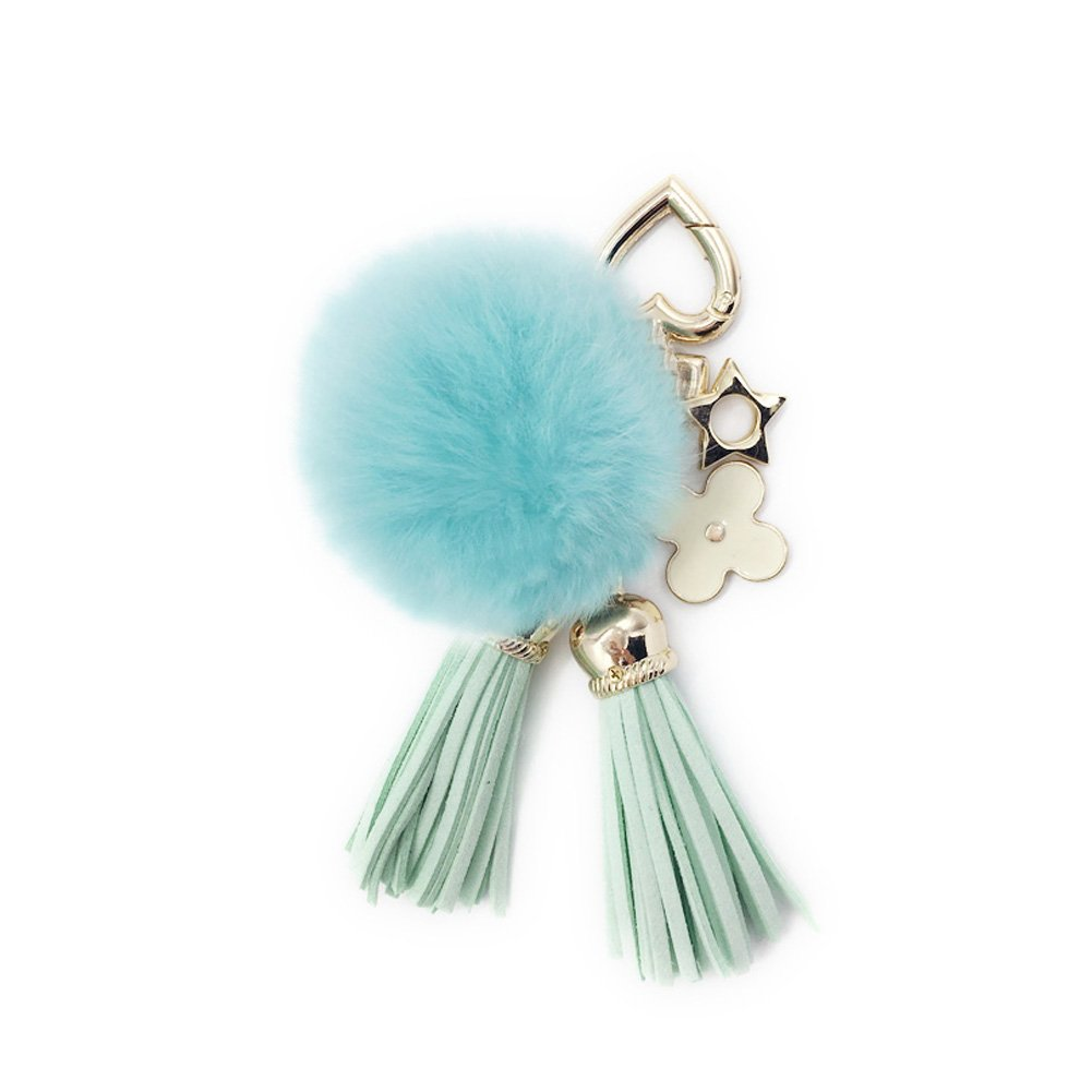 Amazon.com  SPRINGWIND Rabbit Fur Pom Keychain with Leather Tassel Pendant  Heart-shaped Charms for Women DIY Handmade Keyring Handbag or Car Ring   Shoes ba3c1b7bb