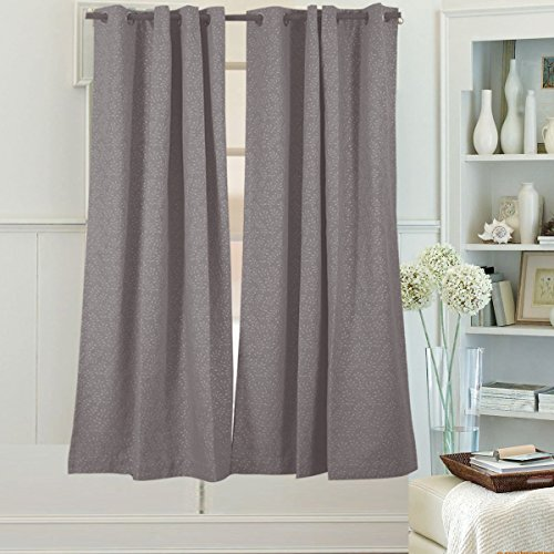 Beryhomes Windsor Simply Beautiful Floral Print Energy Efficient Lined Curtain Drapery With Thermal Insulated 100  Blackout Fabric  Set Of 2 Panels   W52xl45  Beige