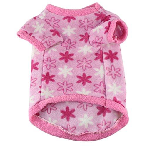 Coper New Fashion Pet Puppy Little Dog Cat Hot Leopard Fleeces Sweater (Pink, ()