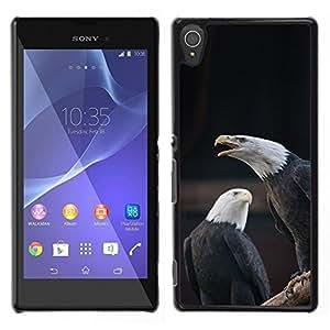 [Neutron-Star] Snap-on Series Teléfono Carcasa Funda Case Caso para Sony Xperia T3 [Eagle Bald American National Symbol]