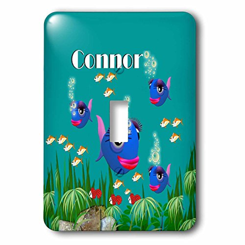 3dRose lsp_51208_1 This Vibrant Artwork Of Fish Under The Sea Is Personalized With The Name Connor Toggle Switch