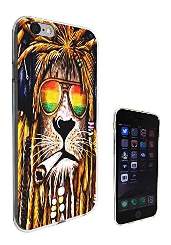 716 - Rasta Lion Weed Cannabis Hair Jamaican Design iphone 6 Plus / 6S plus 5.5'' Fashion Trend CASE Gel Rubber Silicone All Edges Protection Case Cover