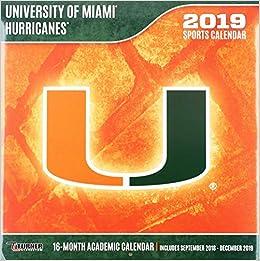 University Of Miami 2019 Calendar University of Miami Hurricanes 2019 Calendar: Lang Holdings Inc